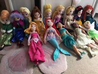 Disney Store Plush Princesses x14, like new