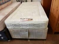 Mayfair orthopaedic single mattress and divan base with slider door storage
