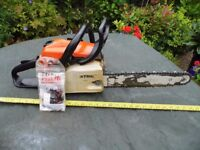 Stihl MS211, 14 inch Petrol Chainsaw.