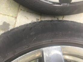 5 spoke 17 inch Alutec alloy wheels
