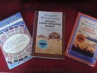 3 x BOOKS BY ALEXANDER McCALL SMITH - EXCELLENT CONDITION