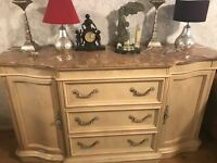 Dresser sidboard with beautiful marble top