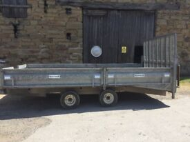 14x6.5ft Beavertail indespension Trailer with ramp and removable sides to convert to flatbed