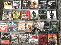 A selection of PS3 and a few ps2 games for sale