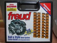 Freud cabinet Insert Knife Rail & Stile Cutter Set For Spindle Moulder