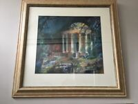 STOWE TEMPLE - Large Watercolour Painting by Martin Bradshaw. Purchased Wigmore Hall, London.