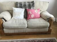 2 x 2 seater cream/ beige sofas