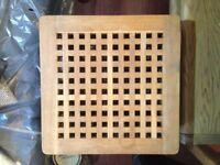 *LOWER PRICE 12/02* Lovely large IKEA walnut laundry basket