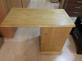 Pull out desk with bookcase on castors, new boxed flat pack