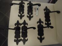 2 pairs of Fleur de Lys Door handles