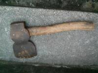 Old 3 lb head wood Axe