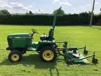 John Deere tractor with topper