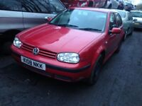 vw golf s 2000 1.4 petrol 5dr red - breaking for spares *wheel nut*