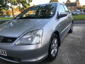 Honda Civic 2003 manual new mot