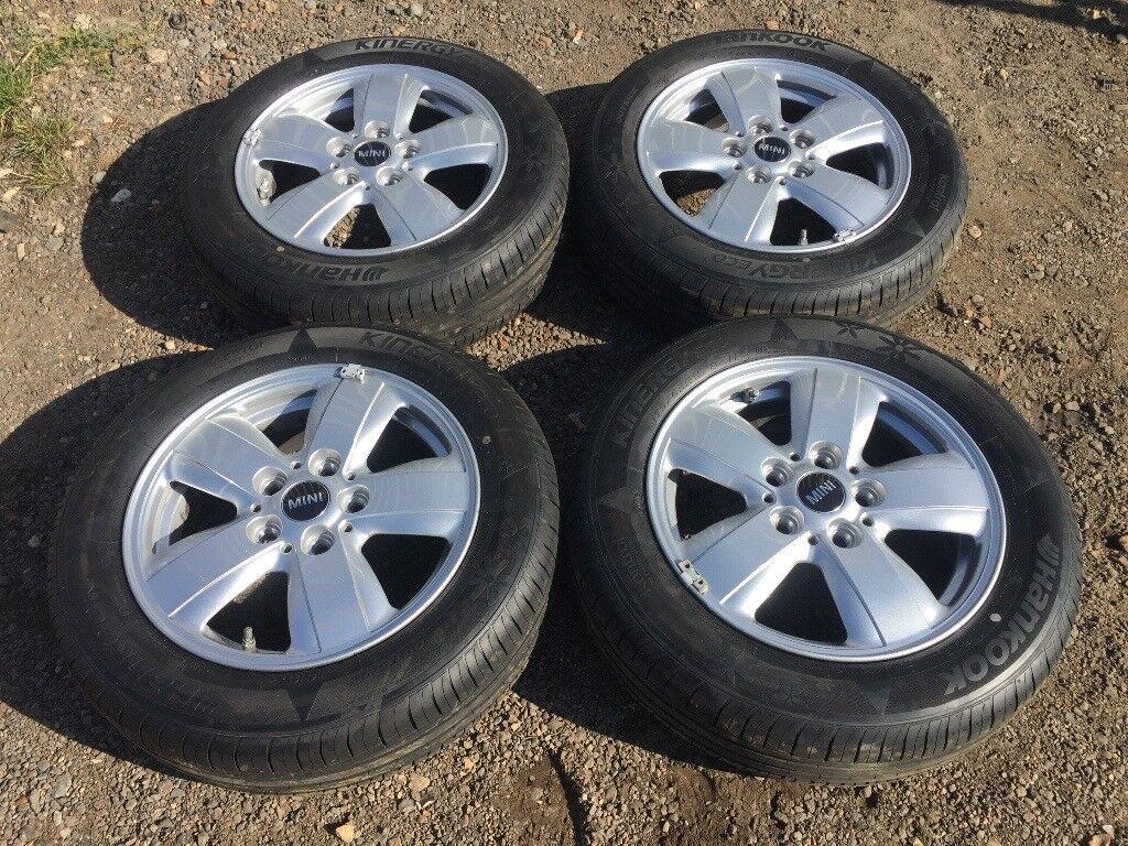 "Mini 15"" 5 stud alloy wheels - excellent tyres"