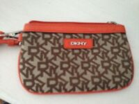 Dkny purse orange and brown never used