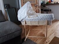 Baby Moses Basket with stand and cushion