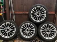17 inch alloy wheels x 4 ET51 offset from Audi A3