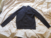 Small Slim navy-coloured Cardigan - As New!