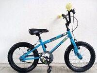 """(2260) 16"""" 9.5"""" APOLLO ACE 38 BOYS GIRLS KIDS CHILD BIKE BICYCLE; Age: 5-7; Height: 105-120 cm; BLUE"""