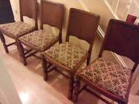 4 lovely antique looking chairs