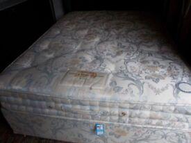 A double divan bed