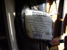 split bamboo screening