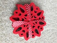 Reversible snowflake coasters