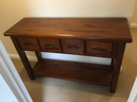 Solid Timber Hall Table with 4 drawers