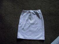White BRAND NEW women's XS bodycon mini skirt American Apparel