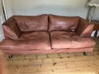 Comfy Quality Leather 2 Seat Sofa for Sale