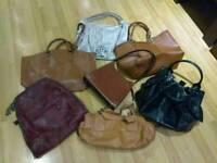 Joblot Mixed Selection Bundle Ladies Large Tan Black Leather Bags Lot