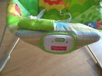 Fisher Price vibrating chair. Used but looked after. Bright animals. Perfect from newborn to sitting