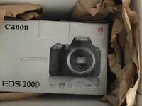 Brand new CANON 200d DSLR camera for photo and video