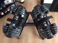 Bowflex 2-21 kg adjustable dumbbells dumbells with stand