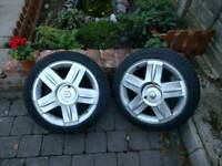 Renault sport 16inch wheels with new tyres
