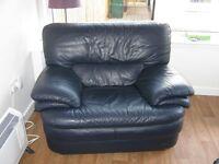 Italian Leather Armchair (Navy)