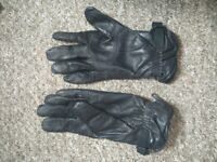 Black Leather Gloves, Warm, Military Issue