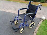 WHEELCHAIR - Lightweight Folding Wheel Chair with Handlebar Brakes