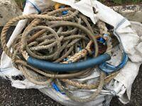 Job lot Of Heavy Nylon Mooring Ropes & Leaded Ropes Plus Others