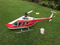 Massive professional petrol rc helicopter