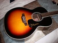 TAKAMINE GN51-BSB electro-acoustic guitar, excellent condition, with Takamine hard case