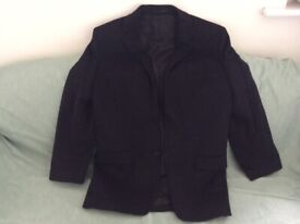 French Connection Men's Black Wool Rich Blend Flannel Blazer (40R) (never worn) REDUCED TO SELL