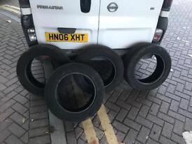 4 x 205 60 16 tyres , very good