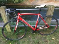 Specialized Allez Compact Road Bike Large 56Cm Stunning Red - White Immaculate Condition