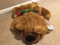 Lazy Lion 1999 Soft Toy with bells