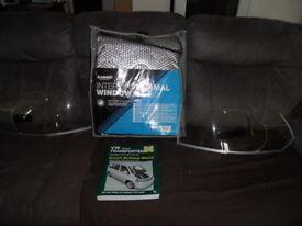 T5VW thermal window blinds new. headlamp protectors with beam benders&new haynes workshop manual