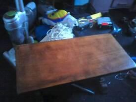 Coffee table in dark oak
