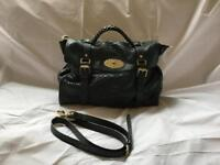 Mulberry Oversized Alexa in Petrol Green Silky Snake leather