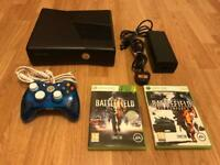 Xbox 360 slim console with battlefield games